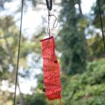 hanging chinese fabric amulet